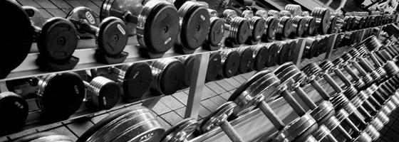 gewichten in sportschool